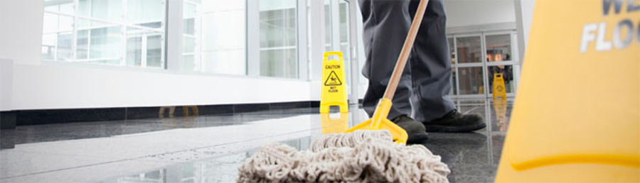 Contract cleaning of offices